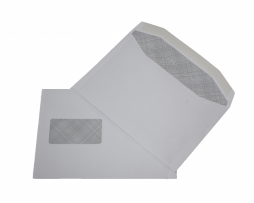 C5 white window envelope