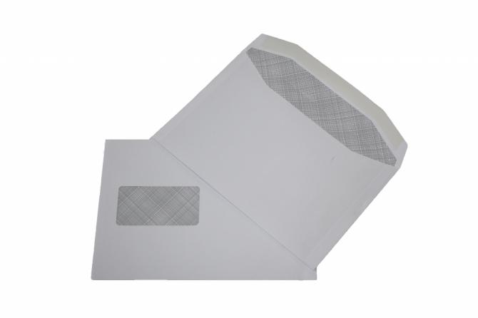 C5 white window envelope