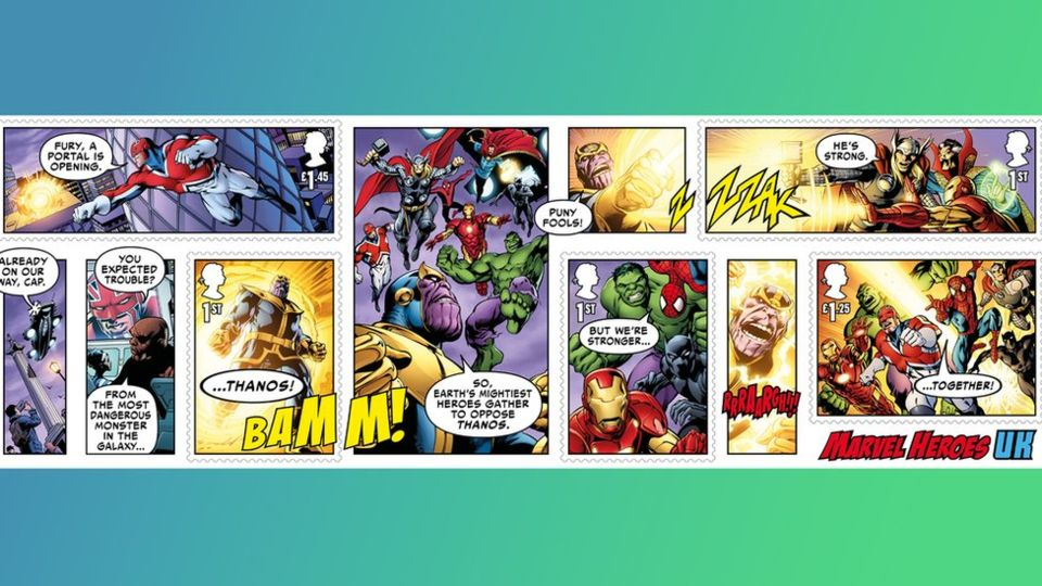 Marvel-ous Stamps to Collect